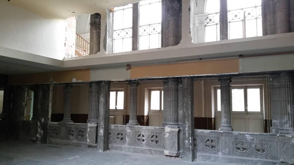 En images - photo des travaux de la chapelle