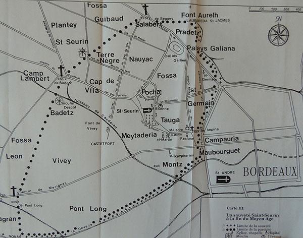 Depuis l'antiquité - Carte de la sauveté Saint-Seurin
