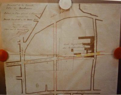Création de l'école - Tracé plan construction couvent des Catherinettes école
