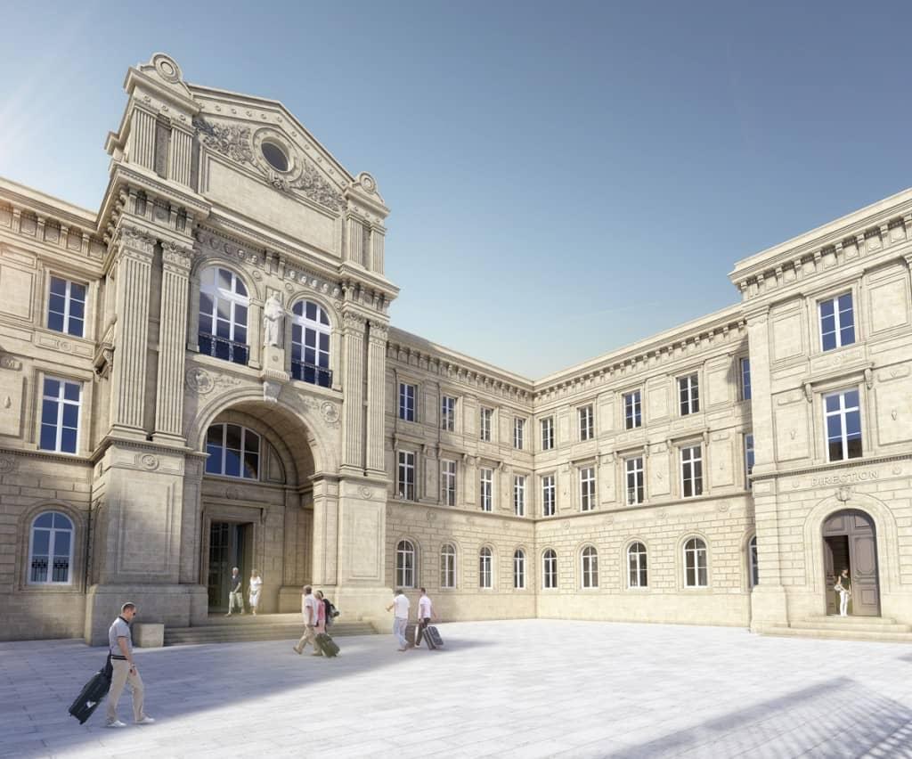 Projet architectural (Ré)public - Modélisation de la future façade